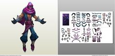 Papercraft .pdo file template for League of Legends - Malzahar.