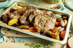 Ekstra saftige nakkekoteletter i ovnen Squash, Pork, Turkey, Food And Drink, Meat, Baking, Gray, Kale Stir Fry, Pumpkins