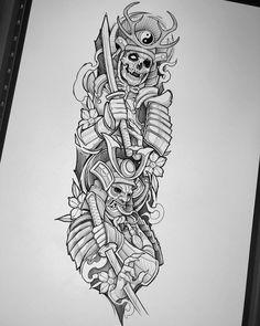 Samurai Tattoo Sleeve, Half Sleeve Tattoos Forearm, Half Sleeve Tattoos Drawings, Egyptian Tattoo Sleeve, Skull Sleeve Tattoos, Egypt Tattoo, Best Sleeve Tattoos, Body Art Tattoos, Japanese Tattoo Art