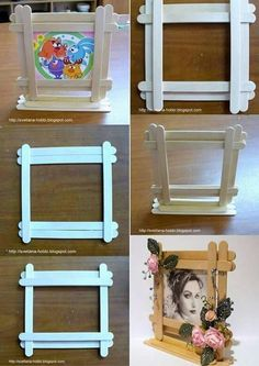 60 classy diy bedroom decor projects to adorn your home in budget – Artofit Diy Crafts For Gifts, Fathers Day Crafts, Diy Home Crafts, Fun Crafts, Crafts For Kids, Paper Crafts, Popsicle Stick Picture Frame, Ice Cream Stick Craft, Diy Popsicle Stick Crafts