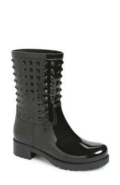 Valentino 'Rockstud' Rain Boot (Women)