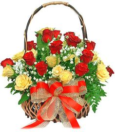 Enchanting Red Basket