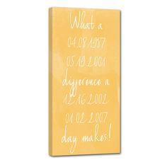 Your dates, any words, things that are important to you. Life is good. Customize your art – scripture , favorite words, sayings, quotes and create unique wall art.