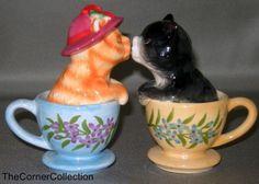 TEACUP KITTENS MAGNETIC KISSING SALT & PEPPER | eBay
