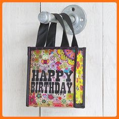 Set of 3 of Recycled Bags - Happy Birthday (Lavender) - Small - Shoulder bags (*Amazon Partner-Link)
