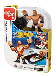 WWE Rumblers Apptivity Randy Orton Figure by Mattel. $10.67. From the Manufacturer                WWE Rumblers Apptivity Figure Collection: Take the brawling to a digital level. These single-figure packs come with an iPad conductive figure that can be used in conjunction with the associated WWE Rumblers iPad app. As kids move their figures above the screen, the corresponding digital Rumblers will move too. Amp up the action with signature moves to win the WWE Championship. Inc...