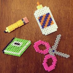 School items perler beads by hgreever