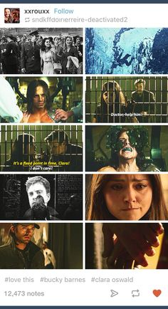 Marvel; Doctor Who; Eleven; Clara Oswald; Bucky Barnes; Captain America; Winter Soldier; crossover