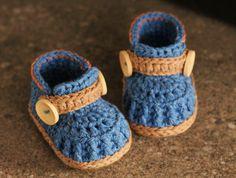 Crochet Pattern Boys Crochet Shoes Jett Boots por Inventorium