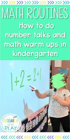 Number Talks and Warm Ups: Meaningful Math Routines Number Talks Kindergarten, Kindergarten Math Activities, Homeschool Math, Teaching Math, Maths, Math Games, Math Fractions, Preschool Activities, Teaching Resources