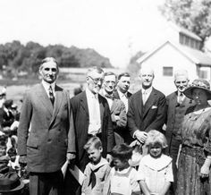 Fourth of July, 1923 in the San Fernando Valley. On the left is William Gibbs McAdoo, then Secretary of Commerce in the Wilson administration. He was running for the Democratic Presidential Nomination at the time of this photograph. Next to him is Principal Killian of the Lankershim School, and to the far right is Tom Alan. Weddington Family Collection. San Fernando Valley History Digital Library.