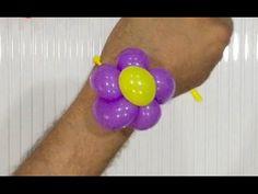 Balloon flower bracelet - Balloon twisting tutorial #balloon #bee #balloonanimals #balloontwisting #balloonart #balloonmodelling #tutorial #flower #bracelet