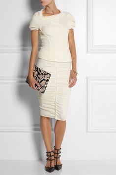 Nina Riccistretch bouclé top and skirt