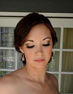 Bridal Makeup - classic eye, light lip, blush.