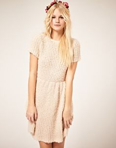 textured knit dress from asos