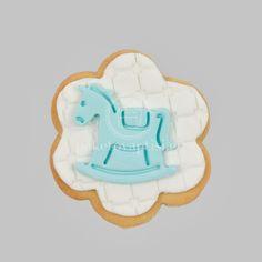 Μπισκότο Βάπτισης Λευκή Μαργαρίτα με Σιέλ Αλογάκι Cupcake Cookies, Cupcakes, Sweets, Sugar, Cupcake Cakes, Gummi Candy, Candy, Goodies, Cup Cakes