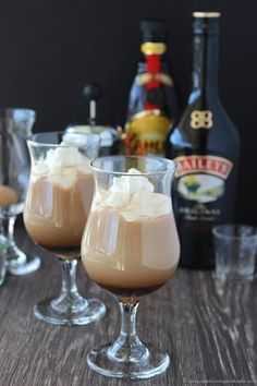 Irish Coffee With Baileys And Kahlua With Hot Coffee, Baileys Irish Cream, Coffee Liquor, Brown Sugar, Whipping Cream