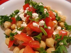 I love this salad, the ingredients and the flavors are great. It is a fresh yet flavorful salad that can be used as a side dish or main dish lunch as I usually make it. I found this recipe in The Arab Table by: May Bsisu http://www.amazon.com/Arab-Table-Recipes-Culinary-Traditions/dp/0060586141 a few years back and have been making it ever since.