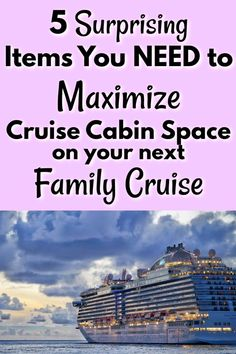 Family cruises are amazing, but they can get cramped if you're not prepared! These 5 items are surprisingly simple, but can save you LOTS of space, trouble, and frustration with your family on your next cruise! Packing List For Cruise, Cruise Tips, Cruise Vacation, Vacation Trips, Family Cruise, Family Travel, Alaskan Cruise, Cruise Destinations, Best Cruise
