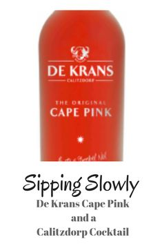 De Krans Cape Pink fortified wine and we make a Calitzdorp Sunset cocktail with it. Whisky, Cape, Bubbles, Cocktails, Make It Yourself, Sunset, Bottle, Pink, How To Make