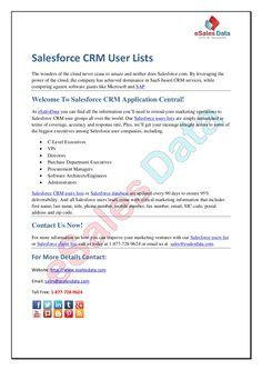 salesforce-crm-user-lists by kim smith via Slideshare