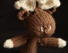 Moose Knit Finger Puppet