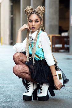 Jannelle Hill, box braids, braids hairstyle, afro hair, black women, black girls, inspiration