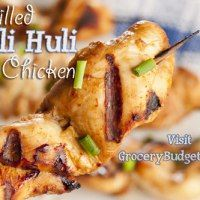 Huli Huli Chicken intense sweet and savory marinade that sizzles with the flavor of ginger, soy sauce and brown sugar & feeds a crowd easily Grilled Chicken Skewers, Grilled Chicken Recipes, Grilled Food, Huli Huli Chicken, Cheap Meals, Cheap Recipes, Fast Recipes, Healthy Recipes, Kebabs On The Grill