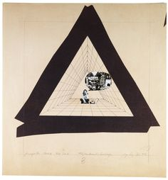 Ugo La Pietra, La Cellula Abitativa, 1972. Drawing Matter Collections. Multimedia <:((((><(