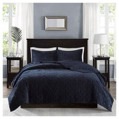 Madison Park Harper 3 Piece Coverlet Faux Velvet Solid Color with Geometric Double Sided Design Modern Luxe Quilt Hypoallergenic All Season Bedspread-Set Matching Shams, Full/Queen, Taupe Coverlet Bedding, Comforter Sets, Comforters, Navy Bedspread, Teal Bedding, Boho Bedding, Romantic Bedding, Neutral Bedding, Rustic Bedding