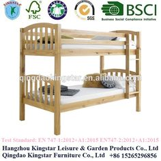 wooden bunk bed parts