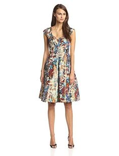Tracy Reese Women's Floral Lame Fit and Flare Dress, http://www.amazon.com/dp/B00NBML4E0/ref=cm_sw_r_pi_awdm_iw4Nub08M57VM