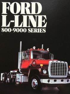 1982 Ford L-Line 800-9000 Series Trucks Brochure Advertising Vintage Sales Brochure Truck Enthusiast Gift Car Lover Gift Present Long Haul