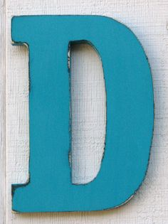 Christmas Gift Wooden Letter D Rustic by borlovanwoodworks on Etsy, $33.00
