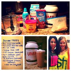 UMP Frosty! One of my favs! Try out this chocolate UMP protein frosty! #sarahfechterfitness