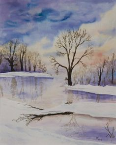 Winter. Aquarel.