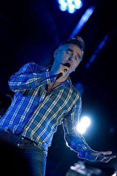 Morrissey at Webster Hall, New York, NY, USA on March 25, 2009 ― photo by Tim Griffin   via Brooklyn Vegan.