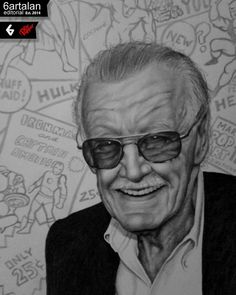 Stan Lee portré 6artalan Editorial Benfrom6 drink dr pepper