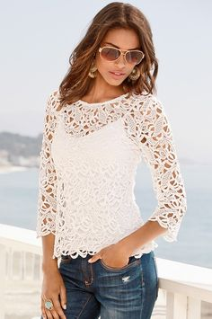 Summer boho outfit style apparel RORESS closet ideas The post White lace top blouse blue jeans. Summer boho outfit 2019 appeared first on Lace Diy. Womens Fashion Casual Summer, Casual Summer Outfits, Boho Outfits, Outfit Summer, Summer Clothes, Dress Summer, Women's Fashion Dresses, Boho Fashion, Fashion Black