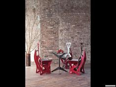 Folditure folding chairs by Alexander Gendel    I love these!!
