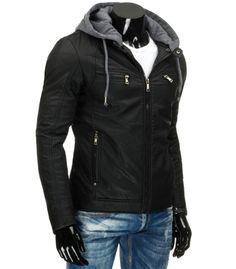 c61a59ff27fdc Pánska prešívaná elegantná zimná bunda tmavo modrej farby ...