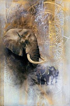 Ivory by Emily Lamb Elephant Love, Elephant Art, African Elephant, African Animals, Wildlife Paintings, Wildlife Art, Animal Paintings, Animal Drawings, Elephant Paintings