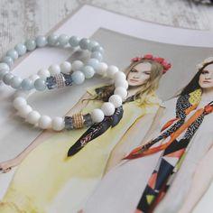 Dear Spring, where are you?  . . . #karolinagasparkejewelry #springcollection2018 #whitebracelet #bluebracelet #denimblue #etsylithuania…