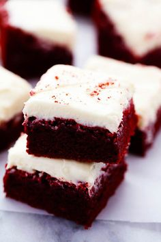 These red velvet brownies are seriously the perfect brownie recipe!  Perfectly moist and chewy with the bright red color.  The ...