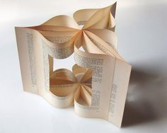 folded, glued book pages