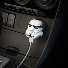 22 car accessories gifts for road trip lovers you should really send ! - Star Wars Stormtroopers - Ideas of Star Wars Stormtroopers - Star Wars Stormtrooper USB Car Charger gifts for road trips lovers