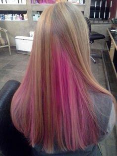 Pink hair highlights, by Justine Taitz Pink Hair Highlights, My Hair, Long Hair Styles, Beauty, Long Hairstyle, Long Haircuts, Long Hair Cuts, Beauty Illustration, Long Hairstyles