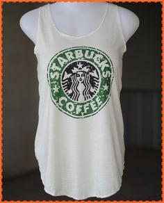 Starbuck shirt White TShirt lady TShirt by chocolatesmile 7d9e50b78c62