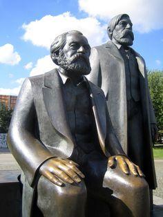Statues of Karl Marx and Friedrich Engels, Berlin, Germany.