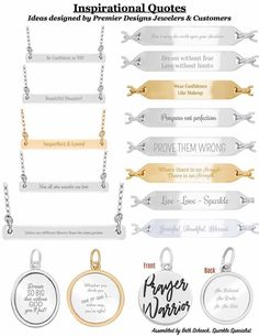 Inspiration for bar none necklace of Engrave-me line of Premier Designs